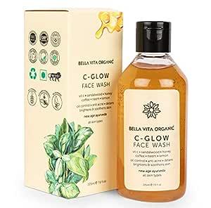 Bella Vita Organic Vitamin C Face Wash For Oily to Normal Skin women & men, Hydration, Brightening, Pore Cleansing, Detan, Pigmentation, Blemishes, Acne & Sensitive Skin, Sulfate & Paraben Free - 225ml