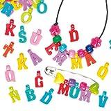 Anhänger 'Buchstaben' - Charms - zum Basteln für Kinder - toller Schmuck für Kinder (160 Stück)