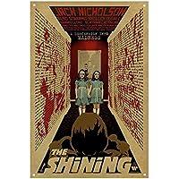 The Shining Póster de Pared Metal Creativo Placa Decorativa Cartel de Chapa Placas Vintage Decoración Pared Arte para Carretera Bar Café Tienda