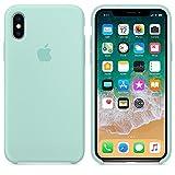 El último Verano Funda iPhone X, Slim Líquido de Silicona Gel Carcasa Anti-Rasguño y Resistente Huellas Dactilares Totalmente Protectora Caso Cover Case para iPhone X (5.8') (Verde mar)