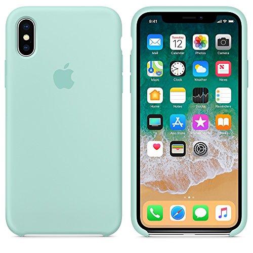 A & W 2018 Estate Ultima Custodia in Silicone per iPhoneX (iPhone X, Verde Mare)