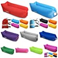 Air DancerTM 2017 Inflatable Lounger 2nd Generation NEW Monolayer Portable Fast Inflatable Sofa Air Bed Lazy Bag Air Bag Headrest Comfort Design, One Inlet Port, Nano Nylon (only 0.8kg) - cheap UK light shop.
