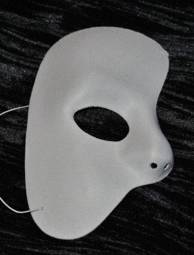 Masquarade Half Mask Maske weiß ()