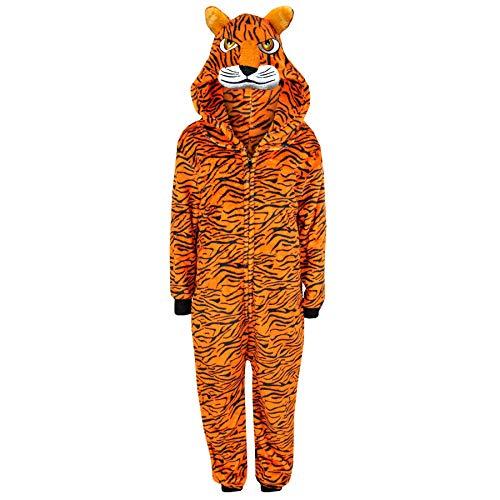 A2Z 4 Kinder Kinder Mädchen Jungen A2Z Strampelanzug Einteiler Extra Weich Flaumiger Tiger - E.Weich Tiger - Tiger Strampelanzug Kostüm