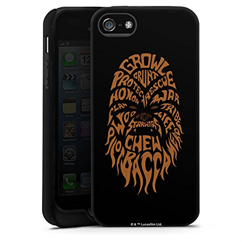 Apple iPhone X Silikon Hülle Case Schutzhülle Star Wars Merchandise Fanartikel Chewbacca Typo Tough Case matt