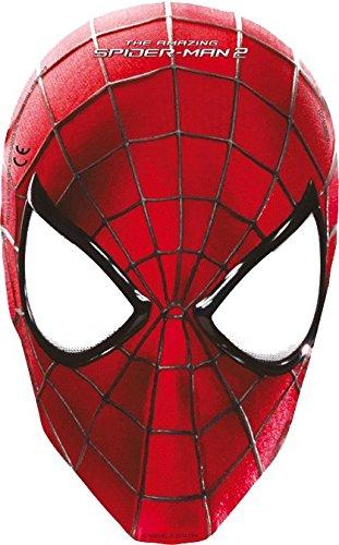 (Procos 82945.–Masken Papier Amazing Spider Man 2, 6Stück, rot)