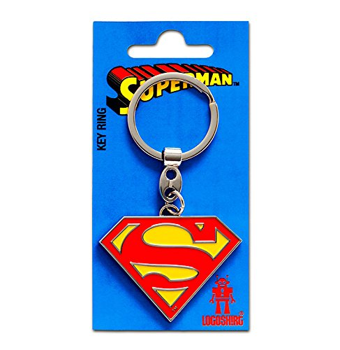 (Schlüsselanhänger Superman Logo - Schlüsselanhänger DC Comics - Superheld - Key-Ring - farbig - Lizenziertes Originaldesign - Logoshirt)