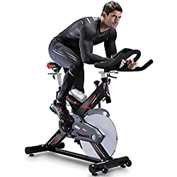 sportstech Exercise Bike Ergometer SX400 with Smartphone App Control + Google Street View, Inertia Weight 22kg, Arm, Heart Rate Monitor, Silent, Max. 150 kg