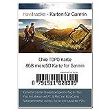 Chile Garmin Topo 8GB microSD. topogra pesci GPS tempo libero carta per bicicletta da trekking, escursioni trekking Geocaching & Outdoor. dispositivi di navigazione, PC e Mac