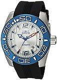 Invicta 'Aviator' automático Reloj Casual de Silicona y Acero Inoxidable, Color: Negro (Modelo: 23530)