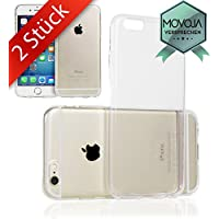 2 STÜCK iPhone 6 6S Hülle TPU Case Schutzhülle Set - NEUES MATERIAL | PERFEKTE PASSFORM | 2x Silikon Crystal Case Transparent Durchsichtig für Apple i-Phone-6 iPhone 6 - Movoja® …