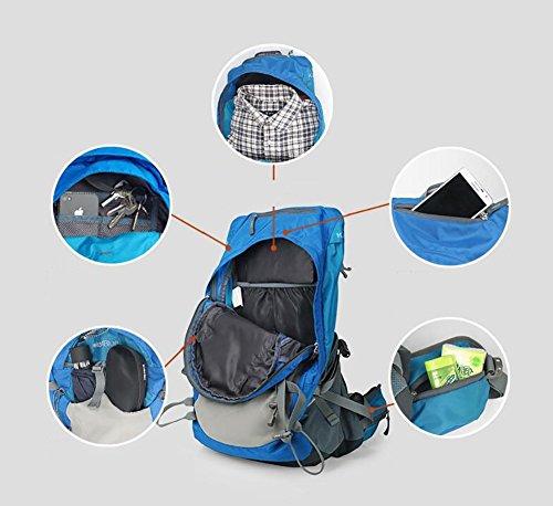 HWLXBB Outdoor Bergsteigen Paket Männer und Frauen 35L Wasserdichte Mehrzweck-Bergsteigen Tasche Wandern Camping Bergsteigen Rucksack 2*