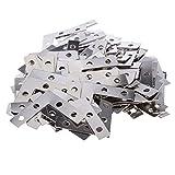 P Prettyia 100 Stücke Metall Flachverbinder L-Form Lochplatte Befestigung Holzverbinder Lochbleche