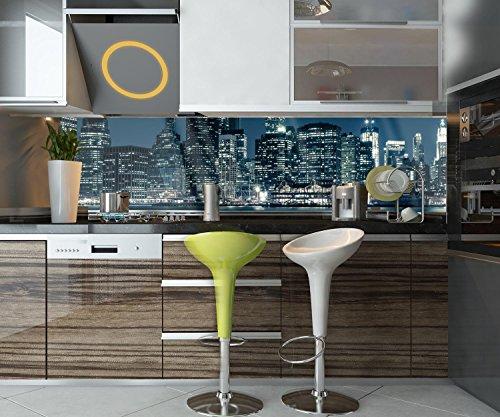 wandmotiv24 Küchenrückwand New York City 210 x 50cm (B x H) - Acrylglas 4mm Nischenrückwand Spritzschutz Fliesenspiegel-Ersatz M0282