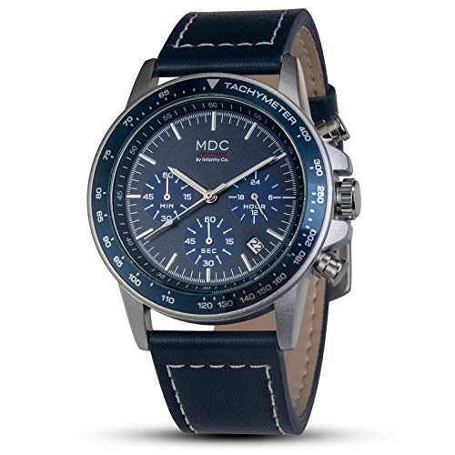 Armbanduhr Männer Chronographen Herren Outdoor Uhr Lederarmband Fliegeruhr Militär Uhren by MDC
