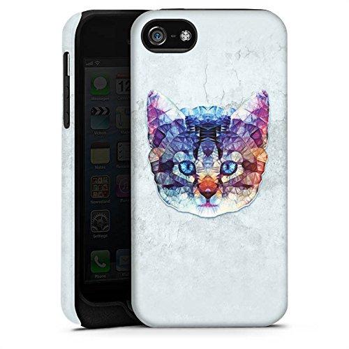 Apple iPhone X Silikon Hülle Case Schutzhülle Rainbow Cat Katze Kitten Tough Case matt