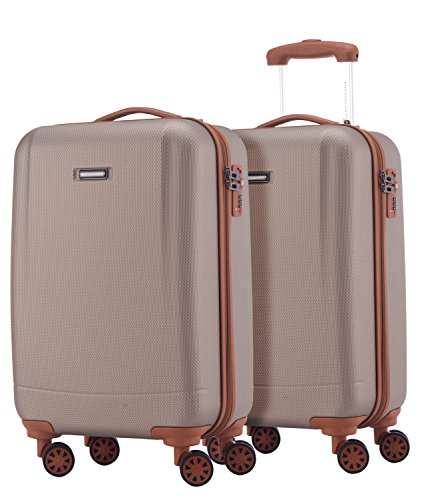 HAUPTSTADTKOFFER - Wannsee - 2 x Handgepäck Koffer-Set Trolley-Set Rollkoffer sehr leichter Reisekoffer, ABS Hartschalenkoffer 4 Rollen, TSA Zahlenschloss,...