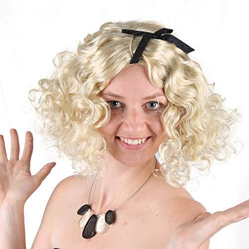 Für Erwachsenen Marilyn Pink Kostüm - Cosplay Perücken für Frauen Blonde Perücke Marilyn Monroe Kostüm Perücken Halloween Lady Cosplay Perücke Karneval Party Frauen Cosplay Party Supplies