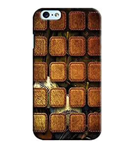 Blue Throat Leather Patches Pattern Printed Back Cover For Apple iPhone 6 Plus