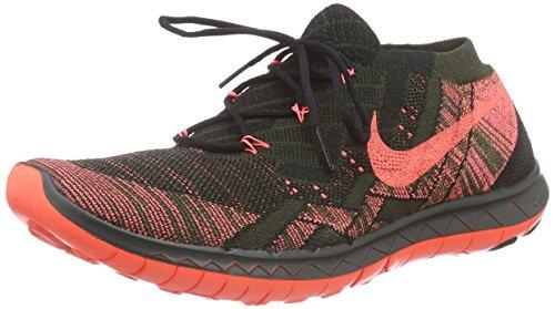 Nike Herren Free 3.0 Flyknit Laufschuhe Mehrfarbig (Black/Lava-Sequoia-Green)