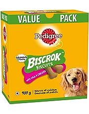 Pedigree Biscrok Biscuits Dog Treats (Above 4 Months), Milk and Chicken Flavor, 900g Pack