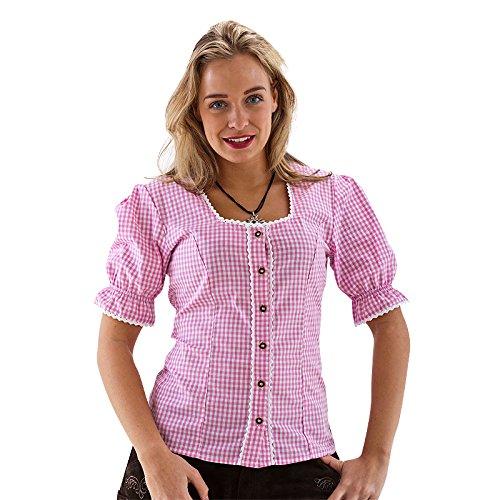 Haus Huberts NEU Damen-Kostüm Bluse rosa/weiß kariert, Gr. S (Bluse Haus)