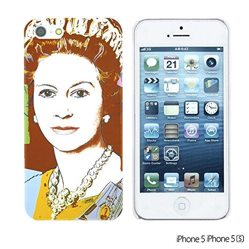 OBiDi - Celebrity Star Hard Back Case / Housse pour Apple iPhone SE / Apple iPhone 5S / 5 - Beautiful Queen Elizabeth II Queen Elizabeth II Pop Art