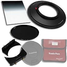 Fotodiox WonderPana 66 Essentials, 9 WK Kit de Kern 145 mm/6,6 Filterholder de ampliación de soporte para 6,5 x 8/0,9 transición suave 145 mm Filtro de densidad neutra ND16 (4-stop) filtro de filtro/de objetivo para Canon EF 8-15 mm F/4L IS USM ultra-zoom de lente ojo de pez (35 mm full-frame)