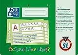 OXFORD 100050089 Schreiblernheft Schule  10er Pack  A4 quer  Lineatur SL (1. Klasse)  16 Blatt  gelocht  grün