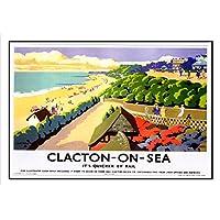 132 Clacton-On-Sea Seaside ferroviaria-Oldschool Best colore unico