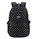 Mädchen Rucksack Rucksack, Schultasche für Kinder Kleinkinder Studenten Bookbag Lässiger Tagesrucksack Laptop Rucksack Outdoor Reisetasche - Schatz Schwarz