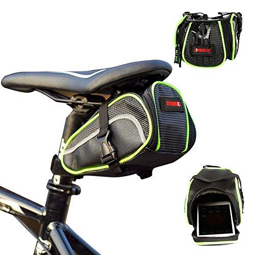 Urvoix Fahrrad-Satteltasche, wasserdicht, für die Rückseite, zur Aufbewahrung unter dem Sitz, mit Klettverschluss
