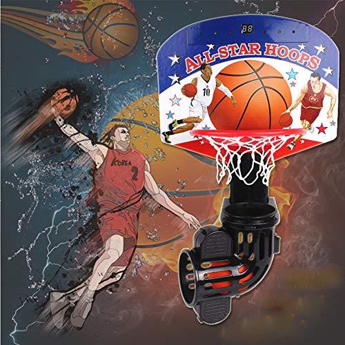 BXWQPP Elektronischer Torschütze Basketballkorb Hängendes Design Kunststoff Basketballständer Kinder im Outdoor und Indoor Basketballanlage Korbanlage Stabile