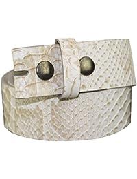 Wechselgürtel aus hochwertigem Vollrindleder, Gürtel für Gürtelschnallen Buckle, 4cm Breite mit Drucknöpfen verschiedene Farben