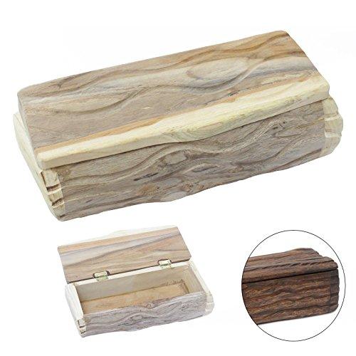 Holzdose Holzbox Holzkiste Holzschatulle Schmuckkasten Stiftebox Teak Holz Box Kiste 28 cm Natur Nr. 2