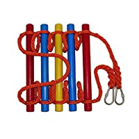 Nylon Rope Ladder, Color Children Climbing Ladder Expansion Training Rope Ladder Playground Climbing Wooden Rope Ladder For Kids Indoor/Outdoor