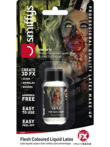 Smiffys Unisex Zombie Flüssiglatex mit wenig Ammoniak, 29ml, Hautfarbe, 47041