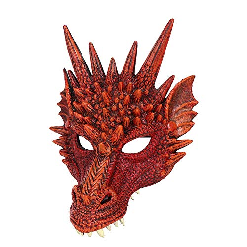 Besten Teen Kostüm - 4D Dragon Mask Halbe Gesichtsmaske für Kinder Teens Halloween Kostüm Party Dekorationen Balight