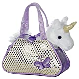 Aurora World 32600 - Unicorno di peluche in borsa glitterata, 20,5 cm, colore: Lilla