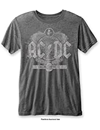3c1549f4298ea7 AC DC Men s Black Ice (Burn Out) T-Shirt