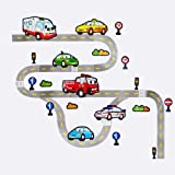 Large Transport Wall Stickers : Cars, Ambulance, Fire Engine, Roads, Traffic Lights: Boys Bedroom Wall Stickers