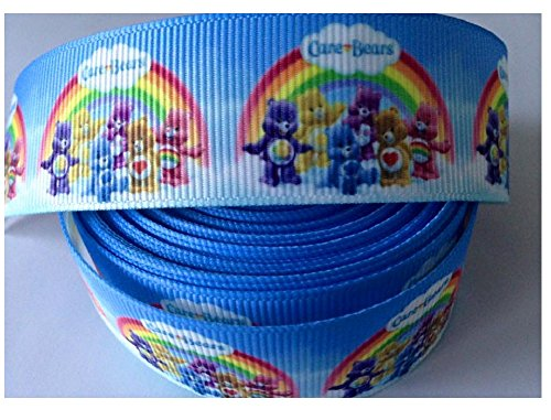 Image of 2 Yards Of Care Bear Rainbow Grosgrain Ribbon