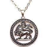 Antik Gold PT Shir khorshid Lion Sun Pahlavi Halskette iranischen Persisch Kette Iran Art, gold, Large