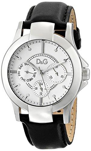 D&G Dolce&Gabbana d&g night & day - Reloj analógico de mujer de cuarzo con correa textil azul - sumergible a 30 metros