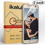 ikalula Galaxy S7 Protection d'écran , Ultra Transparent Galaxy S7 Protecteur D'écran Easy Applied Samsung Galaxy S7 Verre Trempé Easy Applied Film Protection d'Écran - Lot de 2