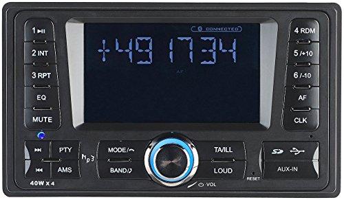 Creasono 2DIN Autoradio: 2-DIN-MP3-Autoradio CAS-4380.bt mit RDS, Bluetooth, USB & SD, 4X 45 W (2 DIN Autoradios)