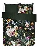 ESSENZA Bettwäsche Fleur Blumen Pfingstrosen Tulpen Baumwollsatin Grün, 135x200 + 1 X 80x80 cm