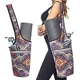 Ewedoos Yoga Taschen aus Baumwoll-Canvas für meisten yogamatte & Yoga-Zubehör (Totem)