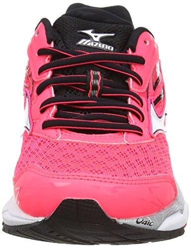 Mizuno Wave Inspire 12, Chaussures de Running Compétition Femme Rose (Diva Pink/White/Black)