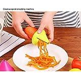 Spiralschneider Hand für Gemüsespaghetti Gemüsehobel für Karotte, Gurke, Kartoffel, Kürbis, Zucchini (green)